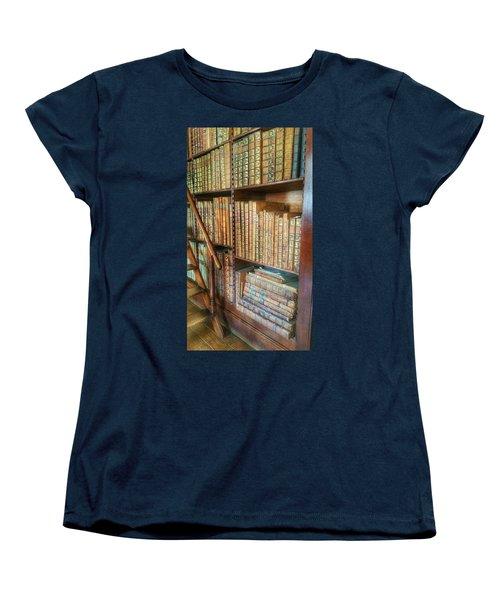 Victorian Library Women's T-Shirt (Standard Cut) by Isabella F Abbie Shores FRSA