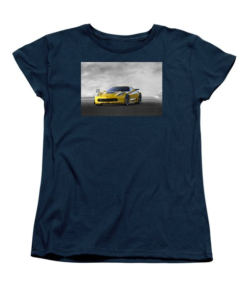 Women's T-Shirt (Standard Cut) featuring the digital art Victory Yellow  by Peter Chilelli