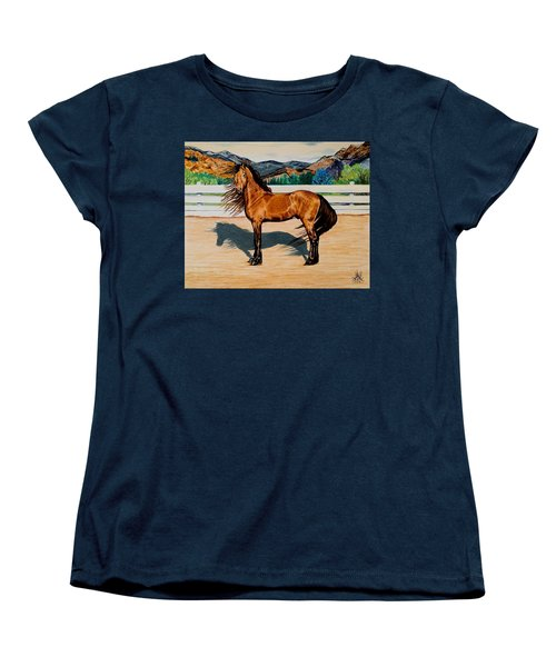Viento Women's T-Shirt (Standard Cut) by Cheryl Poland