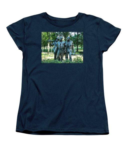 Vietnam War Memorial Statue Women's T-Shirt (Standard Cut)