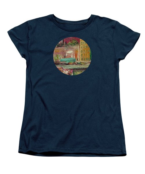 Women's T-Shirt (Standard Cut) featuring the painting View From A Balcony by Mary Wolf