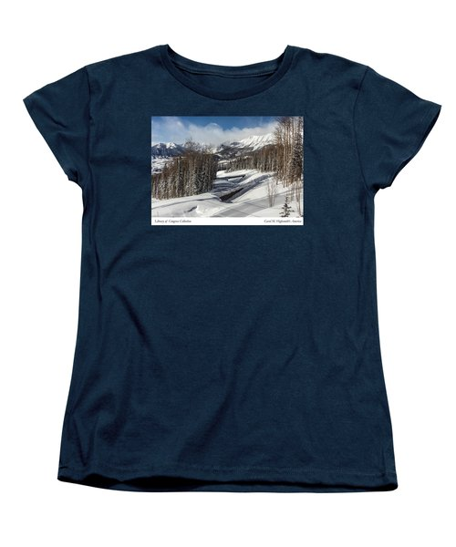 View From A Mountain Above Telluride In Colorado Women's T-Shirt (Standard Cut) by Carol M Highsmith