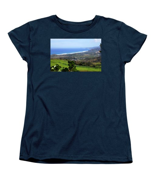 Women's T-Shirt (Standard Cut) featuring the photograph View From Cherry Hill, Barbados by Kurt Van Wagner