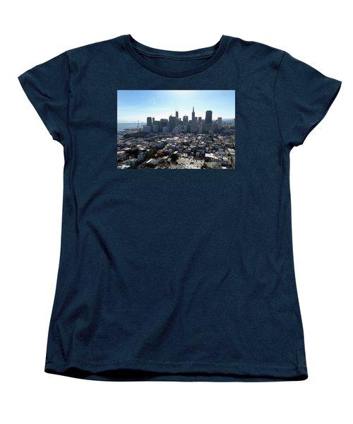 Women's T-Shirt (Standard Cut) featuring the photograph View From Coit Tower by Steven Spak