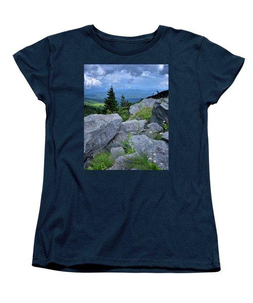 View From Grandfather Mtn Nc Women's T-Shirt (Standard Cut) by Steve Hurt