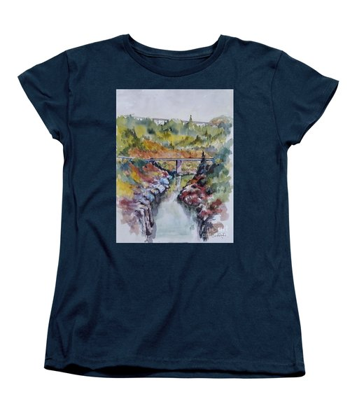 View From No Hands Bridge Women's T-Shirt (Standard Cut) by William Reed