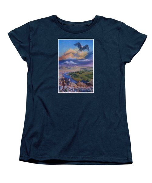 Women's T-Shirt (Standard Cut) featuring the painting View From Sheep Rock by Dawn Senior-Trask