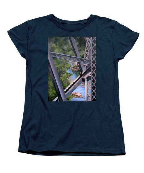 View From The Bridge--sedona, Az Women's T-Shirt (Standard Cut) by Mary McCullah