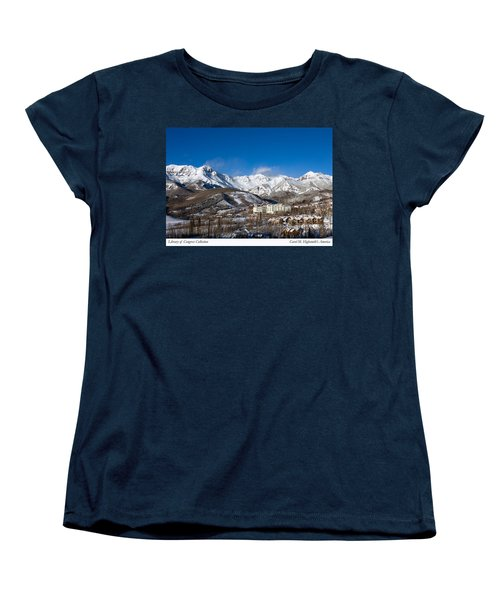 View From The Mountain Above Telluride Women's T-Shirt (Standard Cut) by Carol M Highsmith