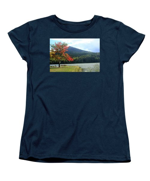 View Of Abbott Lake And Sharp Top In Autumn Women's T-Shirt (Standard Cut)