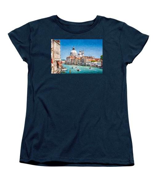 View Of Canal Grande Women's T-Shirt (Standard Cut) by Kai Saarto