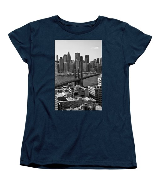 View Of The Brooklyn Bridge Women's T-Shirt (Standard Cut) by Madeline Ellis