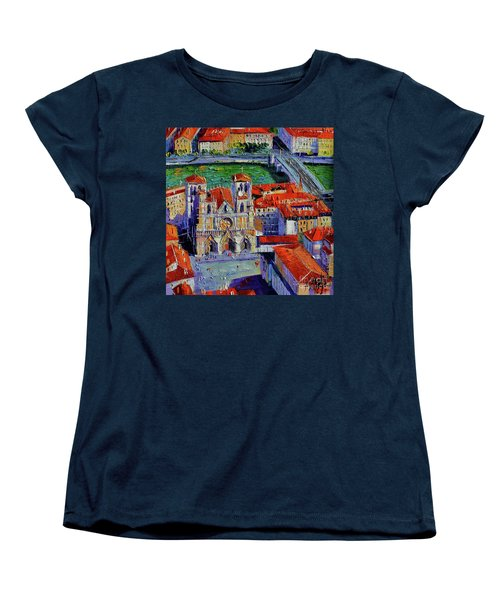 View Over Cathedral Saint Jean Lyon Women's T-Shirt (Standard Cut)