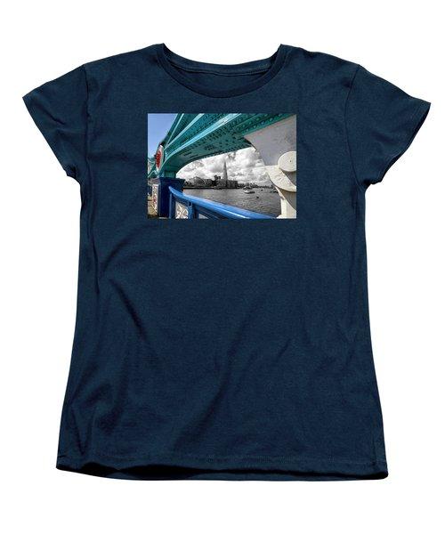 View Through Tower Bridge Women's T-Shirt (Standard Cut) by Shirley Mitchell