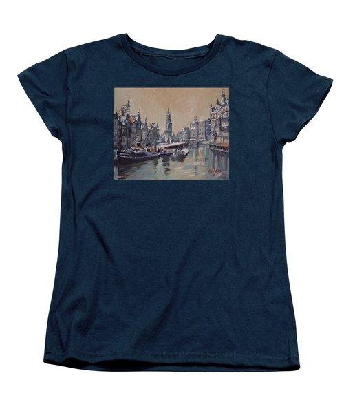 View To The Mint Tower Amsterdam Women's T-Shirt (Standard Cut) by Nop Briex