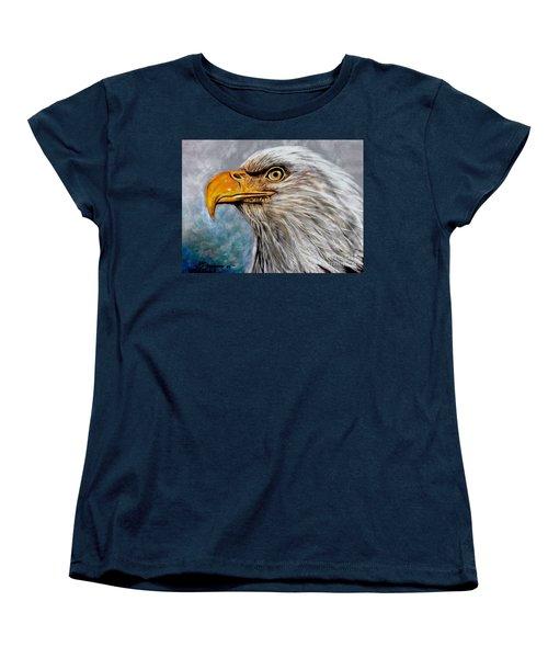 Vigilant Eagle Women's T-Shirt (Standard Cut) by Patricia L Davidson