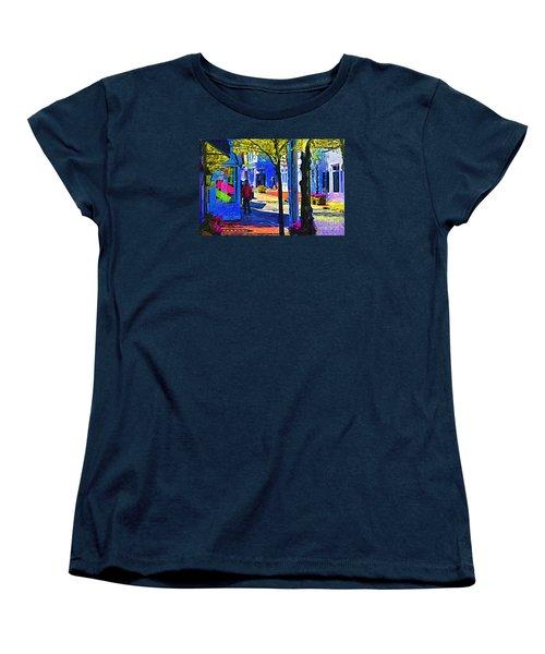 Village Shopping Women's T-Shirt (Standard Cut) by Kirt Tisdale