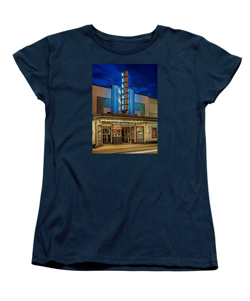 Village Theater Women's T-Shirt (Standard Cut) by Jerry Gammon