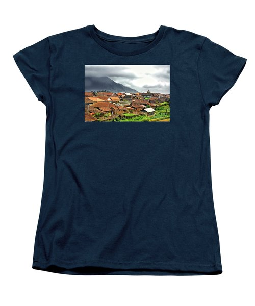 Women's T-Shirt (Standard Cut) featuring the photograph Village View by Charuhas Images
