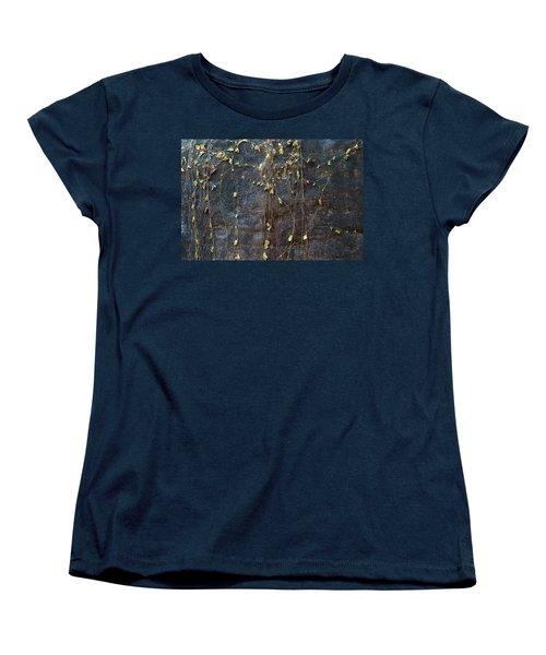 Women's T-Shirt (Standard Cut) featuring the photograph Vines On Rock, Bhimbetka, 2016 by Hitendra SINKAR
