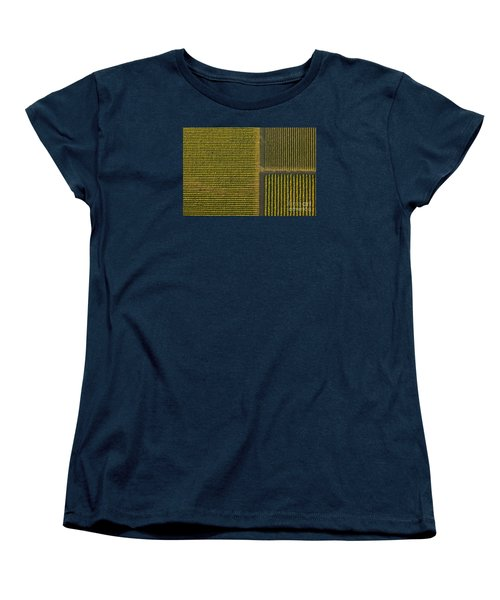 Vineyard From Above Women's T-Shirt (Standard Cut) by Diane Diederich