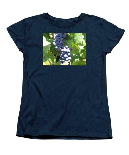 Vino On The Way Women's T-Shirt (Standard Cut) by Pamela Walrath