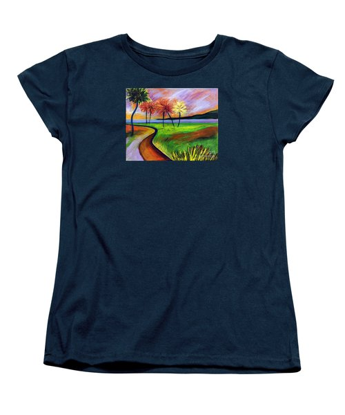 Vinoy Park In Purple Women's T-Shirt (Standard Cut) by Elizabeth Fontaine-Barr