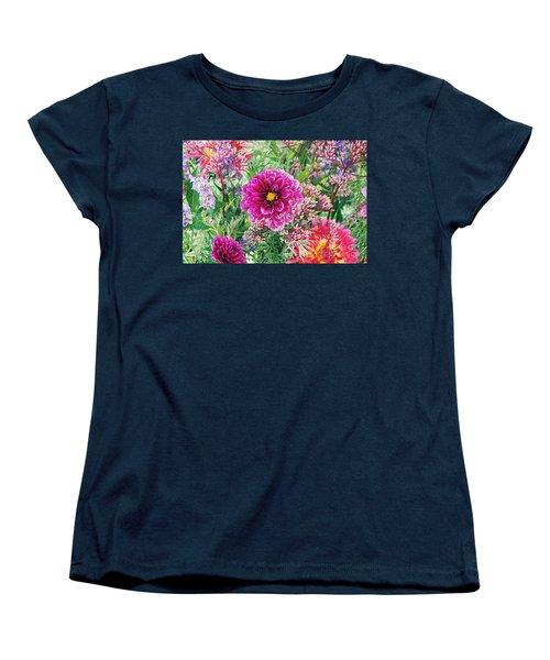Vintage Brocade Women's T-Shirt (Standard Cut) by Byron Varvarigos