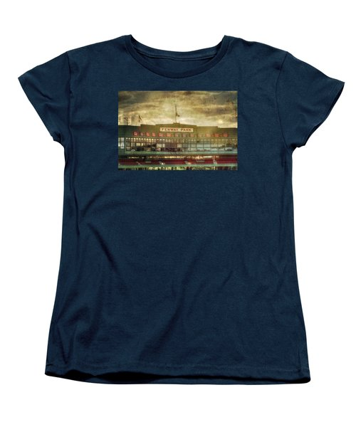 Vintage Fenway Park - Boston Women's T-Shirt (Standard Cut) by Joann Vitali