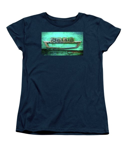 Vintage Ford Truck Logo  Women's T-Shirt (Standard Cut) by Terry DeLuco