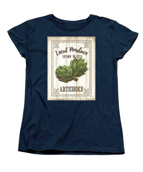 Women's T-Shirt (Standard Cut) featuring the painting Vintage Fresh Vegetables 2 by Debbie DeWitt