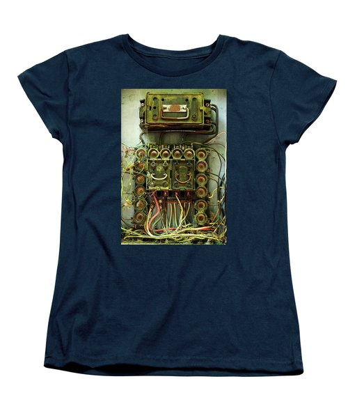 Vintage Household Fuse Box Women's T-Shirt (Standard Cut) by Michael Eingle