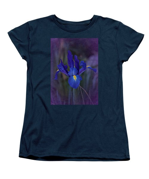 Vintage Blue Magic Iris Women's T-Shirt (Standard Cut) by Richard Cummings