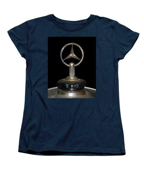 Women's T-Shirt (Standard Cut) featuring the photograph Vintage Mercedes Radiator Cap by David and Carol Kelly