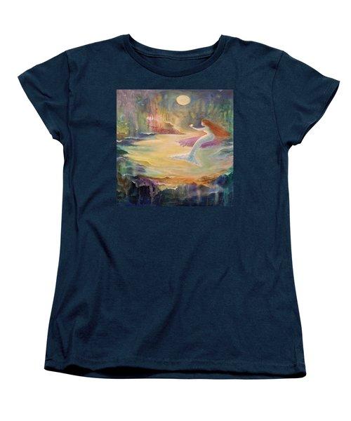 Vintage Mermaid Women's T-Shirt (Standard Cut) by Lily Nava