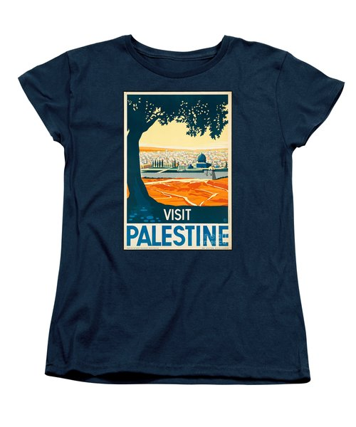 Vintage Palestine Travel Poster Women's T-Shirt (Standard Cut) by George Pedro