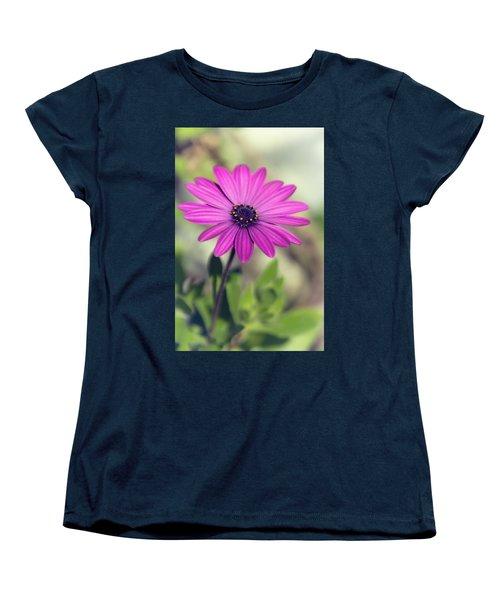 Women's T-Shirt (Standard Cut) featuring the photograph Vintage Purple Daisy  by Saija Lehtonen