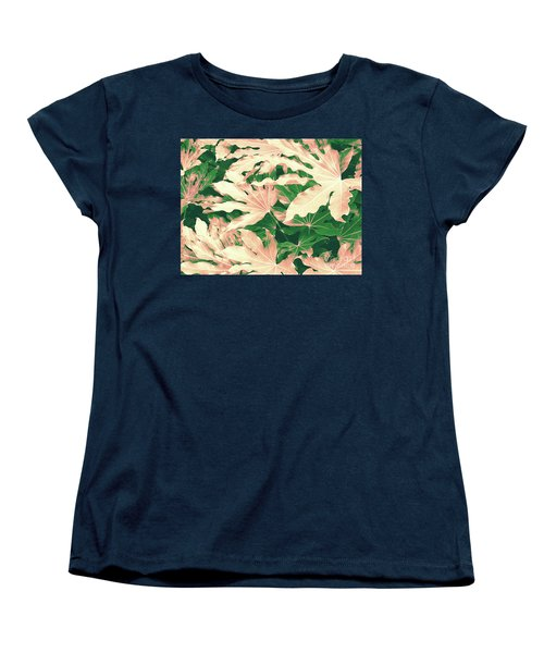 Vintage Season Pink Women's T-Shirt (Standard Cut) by Rebecca Harman