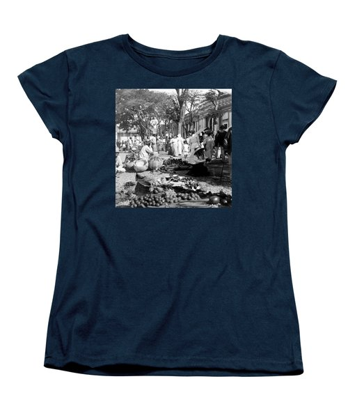 Vintage Street Scene In Ponce - Puerto Rico - C 1899 Women's T-Shirt (Standard Cut) by International  Images