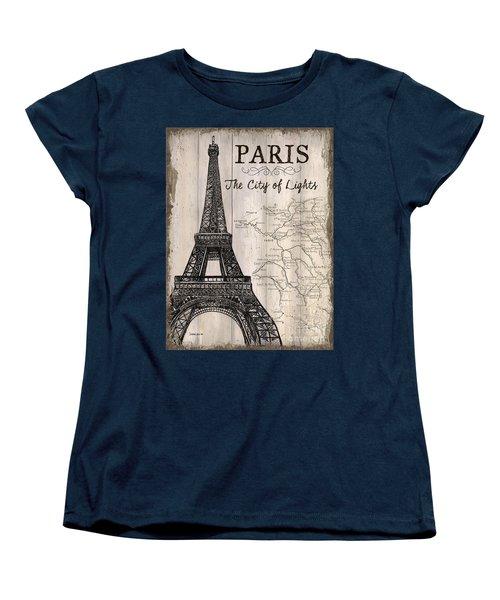 Vintage Travel Poster Paris Women's T-Shirt (Standard Cut)