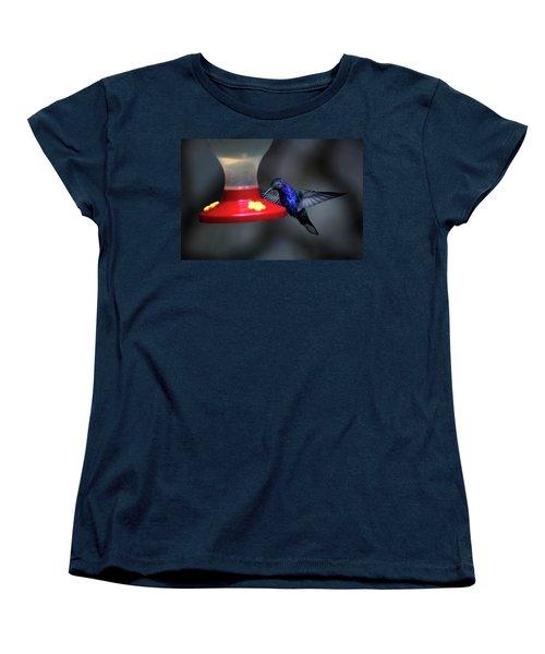 Violet Sabrewing Hummingbird Women's T-Shirt (Standard Cut) by James David Phenicie
