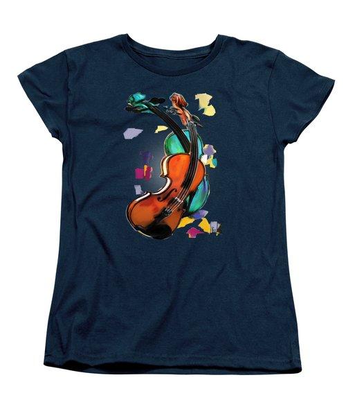 Violins Women's T-Shirt (Standard Cut) by Melanie D