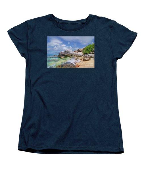 Women's T-Shirt (Standard Cut) featuring the photograph Virgin Gorda The Baths by Olga Hamilton