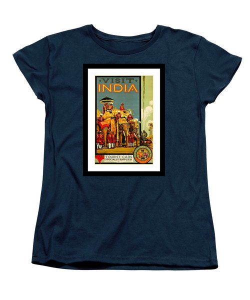 Visit India The Great Indian Peninsula Railway 1920s By A R Acott Women's T-Shirt (Standard Cut) by Peter Gumaer Ogden Collection