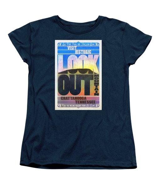 Visit Lookout Mountain Women's T-Shirt (Standard Cut) by Steven Llorca