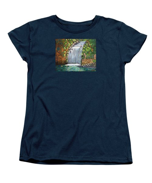 Visitors To The Falls Women's T-Shirt (Standard Cut) by Laura Forde