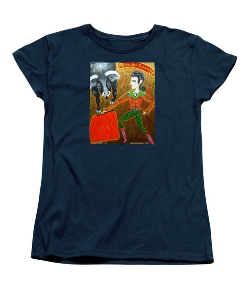 Women's T-Shirt (Standard Cut) featuring the painting Viva Don Toreadore by Marie Schwarzer