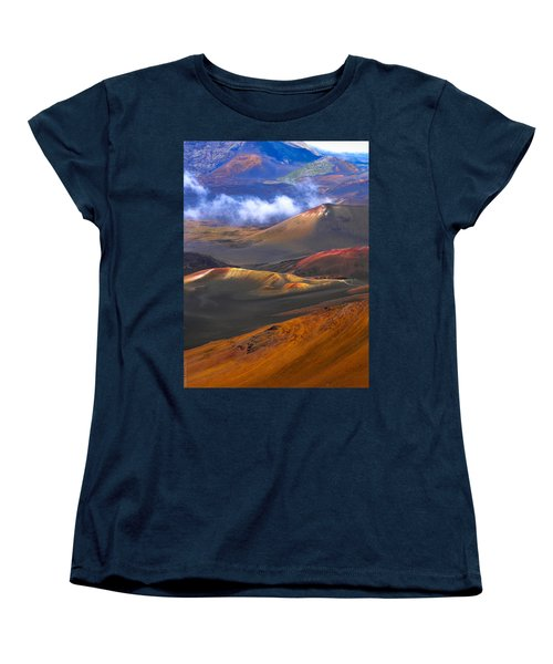 Women's T-Shirt (Standard Cut) featuring the photograph Volcanic Crater In Maui by Debbie Karnes