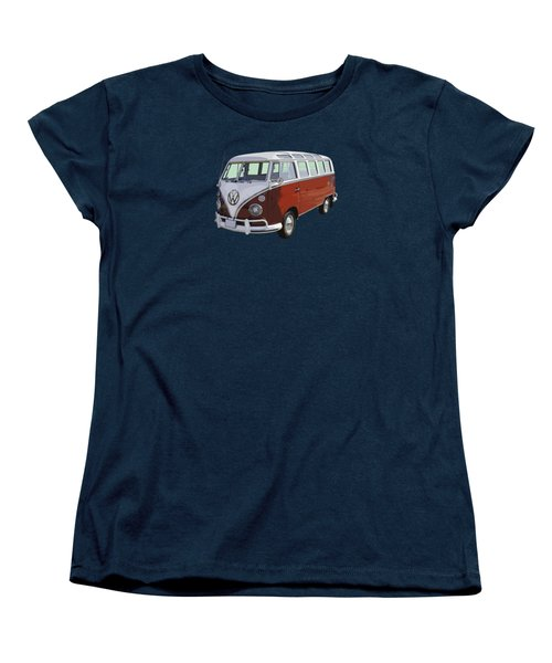 Volkswagen Bus 21 Window Bus  Women's T-Shirt (Standard Cut) by Keith Webber Jr