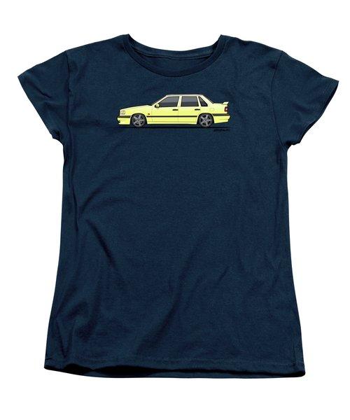 Volvo 850r 854r T5-r Creme Yellow Women's T-Shirt (Standard Cut) by Monkey Crisis On Mars